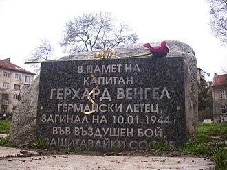 Bombing of Sofia in World War II - Gerhard Wengel memorial in Sofia, Bulgaria
