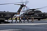 German CH-53GS helicopters at Winslow-Lindbergh Regional Airport on 6 June 2015.JPG