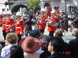 Royal Gibraltar Regiment - Image: Gib Reg pipes