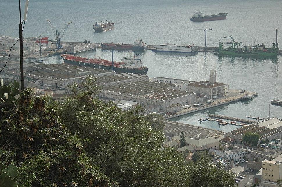 Gibraltar Naval dockyard and South Mole