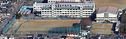 Gifu Prefectural Nagara High School from Gifu Castle.jpg