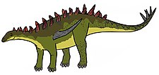 Illustration av Gigantspinosaurus.