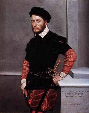 Gabriel de la Cueva, 5th Duke of Alburquerque - Portrait of Don Gabriel de la Cueva by Giovanni Battista Moroni, 1560