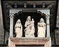 Giovanni da campione, protiro di s. maria maggiore a bergamo, 1350, 02 madonna col bambino tra le ss. esteria e grata di andreolo dei bianchi, 1398.JPG