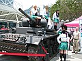 Girls und Panzer promotional cosplayer at Anime Expo 20130705.jpg