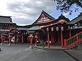 Gishikiden Hall of Taikodani Inari Shrine 1.jpg
