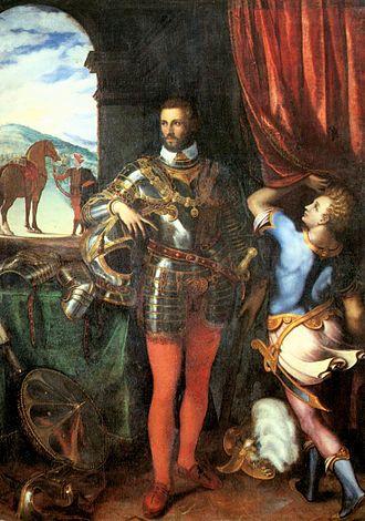 Giulio Campi - Portrait of Alessandro Farnese.