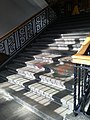Glasgow University Union staircase & stained glass.jpg