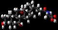 Glycocholic acid molecule ball.png