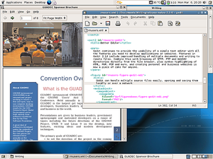 A GNOME desktop running from the GNOME LiveCD.