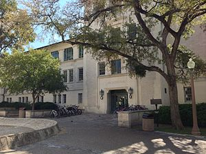 University of Texas at Austin School of Architecture - Goldsmith Hall from the West Mall