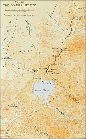 Northern front, East Africa, 1940 - Image: Gondar sector, East African Campaign