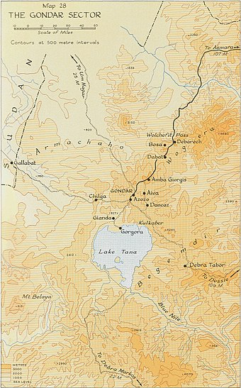 Gondar sector, during the East African campaign Gondar sector, East African Campaign.jpg