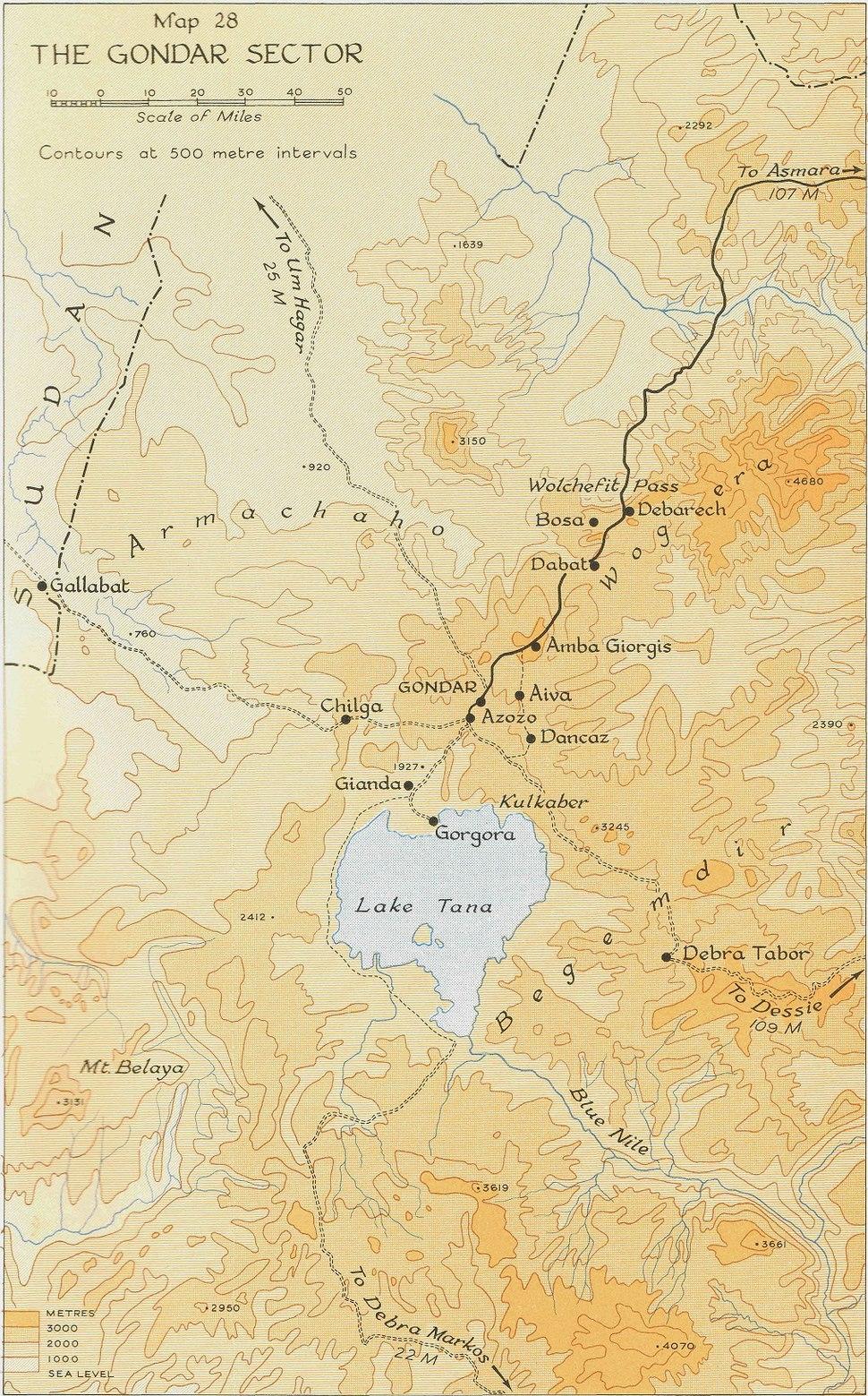 Gondar sector, East African Campaign