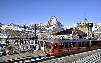 Gornergrat railway station - Image: Gornergrat Station 3578trim