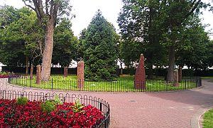 Cathays Park - Gorsedd Gardens and the Gorsedd Stones