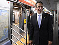 Gov. Cuomo & Chairman Prendergast Ride E Train (15173111409).jpg