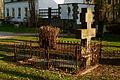 Grabmal des Wassiliy Gawrilow Neustädter Friedhof Hannover Rückseite nach Entfernung von Eibe und Busch durch das Grünflächenamt II.jpg