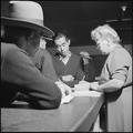 Granada Relocation Center, Amache, Colorado. Section of Leave Office at the Granada War Relocation . . . - NARA - 539934.tif