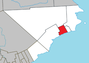 Grande-Rivière, Quebec - Image: Grande Rivière Quebec location diagram
