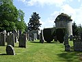 Gravestones and clipped yews - geograph.org.uk - 458449.jpg