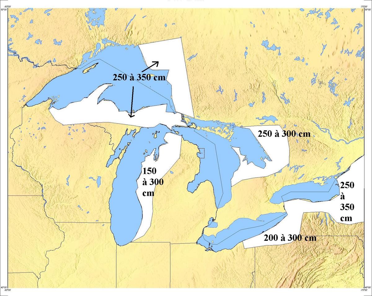 Snowbelt Wikipedia - United states map 5 great lakes