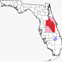 Counties with suburbs of Orlando