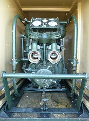 Coventry Climax - Coventry Climax Godiva fire pump in a Green Goddess