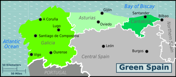 Map of Green Spain