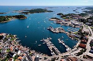 Grimstad - View of Grimstad harbour