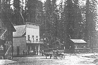 Guerneville, California - Hiram Epperly's Saloon in Guerneville, 1875
