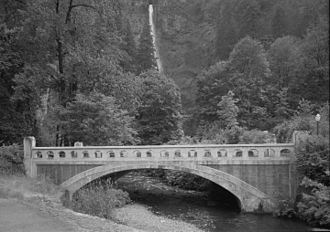 Historic Columbia River Highway - The Multnomah Creek Bridge