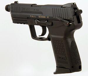 Heckler & Koch HK45 - HK45C Tactical (note the threaded barrel).