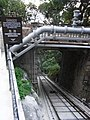 HK Mid-Levels May Road Peak Tram Station footbridge Oct-2012.JPG
