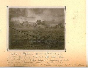 HMS Calgarian (1913) - Taken from deck of HMS Poppy