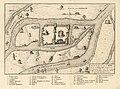 HUA-212008-Plattegrond van de burcht Trecht met omliggende bebouwing in opstand en de rivier de Oude RijnMet legenda.jpg
