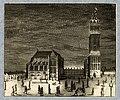HUA-32393-Gezicht op het Munsterkerkhof te Utrecht waarbij de Domtoren feestelijk verlicht is met met een groot aantal lantaarns een van de festiviteiten tijden.jpg