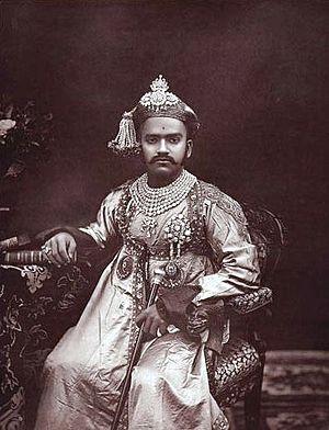 Sayajirao Gaekwad III - H H Gaekwar of Baroda in 1889