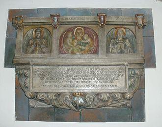 George Lyttelton, 4th Baron Lyttelton - St John the Baptist Church, Hagley, memorial to Sybella Harriet Lyttelton (née Clive, 1836–1900)