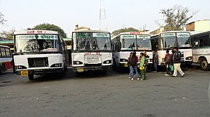 Delhi Bound Buses at roadways station