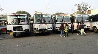 Uttarakhand Transport Corporation - Image: Haldwani bus station panoramio (1)