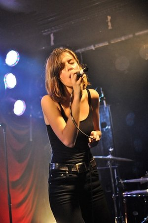 The Jezabels - Hayley Mary performing as front-woman for The Jezabels, 2009.