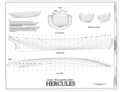 Half-Hull Model Lines - Steam Tug HERCULES, Hyde Street Pier, San Francisco, San Francisco County, CA HAER CAL,38-SANFRA,201- (sheet 7 of 7).png