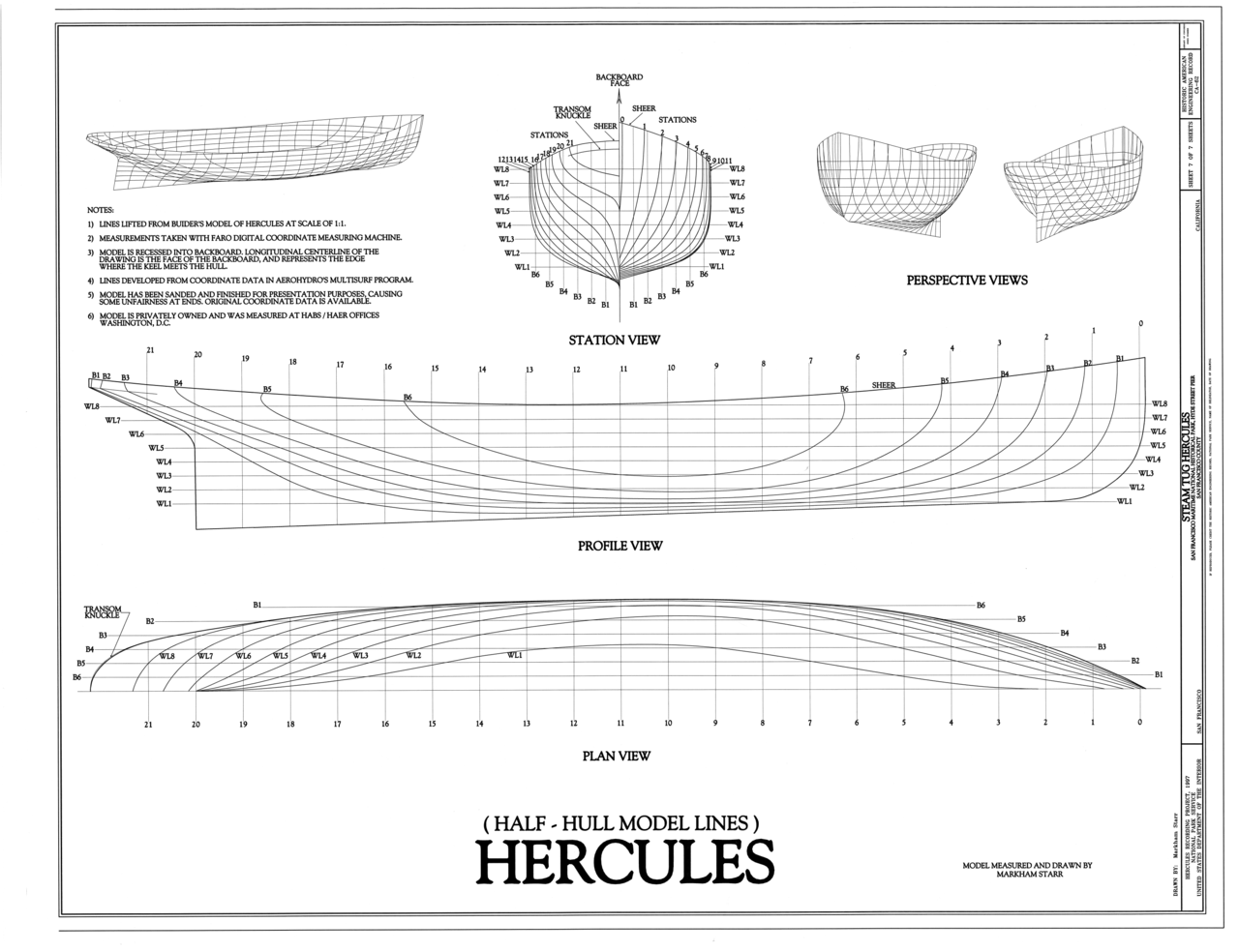 File:Half-Hull Model Lines - Steam Tug HERCULES, Hyde ...