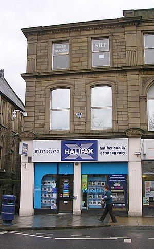 Halifax (bank) - A branch of Halifax Estate Agency in Bingley.