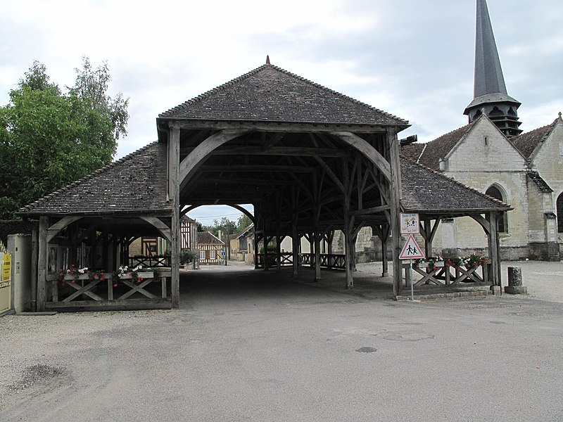 The market hall of Lesmont (Aube, France).
