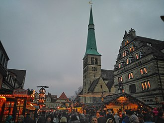 Hamelin - Christmas market in Hamelin.