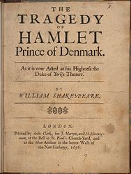 William Shakespeare: English: The Tragedy of Hamlet, Prince of Denmark