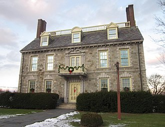 Dorothy Quincy - This replica of the John Hancock Boston home was built by the Ticonderoga Historical Society at 6 Moses Circle, Ticonderoga, New York.
