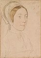 Hans Holbein the Younger - Unknown woman formerly known as Catherine Howard RL 12218.jpg